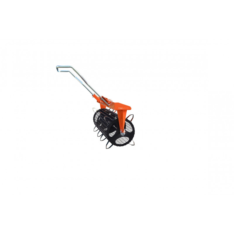 Plastic mulch hole puncher/seedbed roller