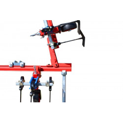 Manual tool bar folding system