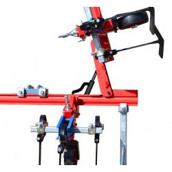 Hydraulic tool bar folding system