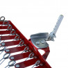 Tine harrow adapter for market gardening hoe