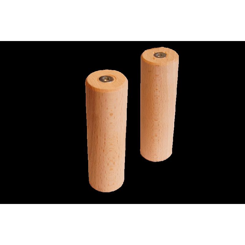 Lot de 2 poignées en bois