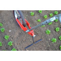 Single-wheel gardening hoe