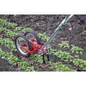 Two-wheel gardening hoe